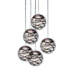 Kelly Cluster 5 by Studio Italia Design — ECC Lighting & Furniture Pendant Chandelier, Pendant Lighting, Italia Design, Unique Lighting, Light And Shadow, Light Decorations, Bronze, Ceiling Lights, Modern