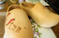 Collectible Wooden Shoes Made in Holland Vintage