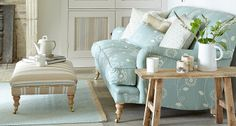 Bohemian Collection - Fabric Designs For Upholstery & Interior Design - Vanessa Arbuthnott Pastel Living Room, My Living Room, Home And Living, Living Spaces, Sitting Room Decor, Shabby Chic Sofa, French Country Living Room, Comfy Sofa, Textiles