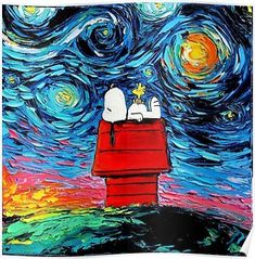 Starry Night´s Snoopy Poster