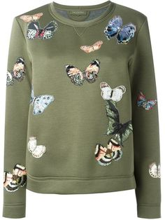 Shop Valentino butterfly applique sweatshirt in Tiziana Fausti from the world's best independent boutiques at farfetch.com. Shop 400 boutiques at one address.
