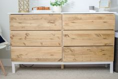 Ikea Tarva Dresser Hack using Minwax Special Walnut Oil-Based Stain