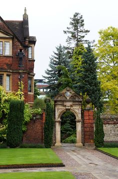 Arch Entry, Pembroke College, Cambridge, England.  I could live here :)