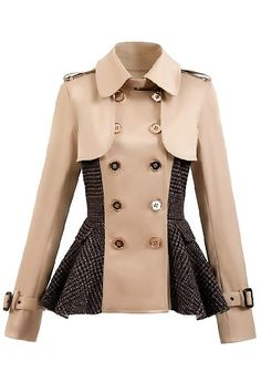 short trench with wool peplum#love this