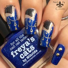 Nails by Cassis: Wearing Blue for ALS Awareness #nails #nailart #nailstamping #pueen