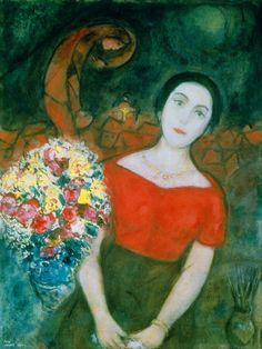 """Portrait of Vava"" by Marc Chagall (1887 – 1985)"