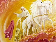 """You have asked a difficult thing,"" Elijah replied. ""If you see me when I am taken from you, then you will get your request. But if not, then you won't.""  As they were walking along and talking, suddenly a chariot of fire appeared, drawn by horses of fire. It drove between the two men, separating them, and Elijah was carried by a whirlwind into heaven. ~ 2 Kings 2:10-11"