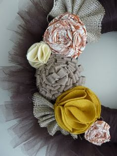 How to make fabric flowers! These are cute & actually pretty simple!