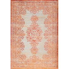 Bungalow Rose Havana Orange Area Rug & Reviews | Wayfair