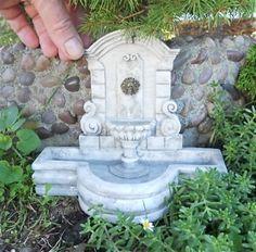 Miniature Plaza Garden Fountain http://www.shop.twogreenthumbs.com/Plaza-Garden-Fountain-SA4262.htm#