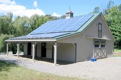 What else can a Horse Barn be used for? How about capturing the sun's energy!