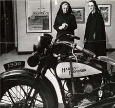 NUNS AND HARLEY MOTORCYCLE....