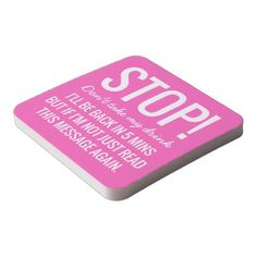 Funny Party Stop Don& Take My Drink Square Paper Coaster - Xmas ChristmasEve Christmas Eve Christmas merry xmas family kids gifts holidays Santa Gifts For Wedding Party, Party Gifts, Kids Gifts, Home Gifts, Birthday Diy, Birthday Gifts, Wedding Coasters, Branding Your Business, Engagement Gifts
