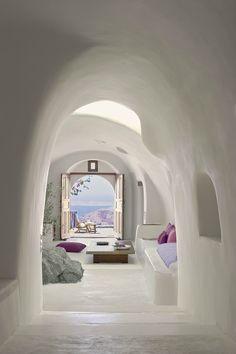 Perivolas Hotel on the Greek island of Santorini designed by Costis Psychas