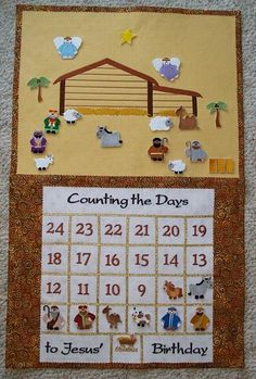 Embroidery Library nativity advent calendar, Counting the Days