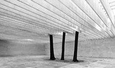 "arquitecturavisual: "" Sverre Fehn - Nordic Pavilion at the Venice Biennale. Venice, Italy. 1962 "" The nordic pavilion on the Biennale campus in Venice resulted from a competition in 1958 and was official opened in 1962. The roof consists of concrete..."