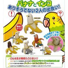 capsule toys | ... Unprecedented Combos? Banana Parrots and Mushroom Parrots Capsule Toys