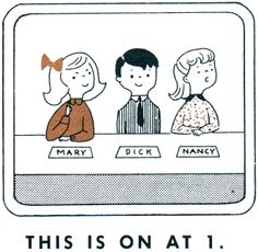 """newhousebooks:  """"TV Today: A Telling-Time Game. This is on at 1."""" from100 Learning Games, for boys and girls age 5 to 8. Illus by Nancy Mat..."""