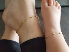 Mommy and me gold vermeil dainty chain anklets, mommy and me anklets, matching anklets, dainty baby anklet, mommy and me outfits Source by kpearlb and me outfits Baby Jewelry, Cute Jewelry, Bridal Jewelry, Gold Jewelry, Kids Jewelry, Modern Jewelry, Statement Jewelry, Anklet Designs, Necklace Designs