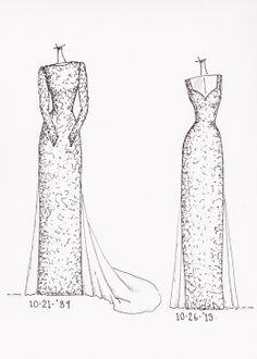 wwwetsy/shop/dresssketch  art dress wedding dress