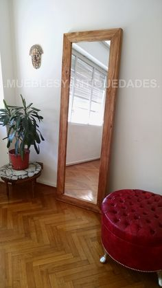 Living Pequeños, Muebles Living, Oversized Mirror, House, Furniture, Home Decor, Rooms, Floor Mirror, Female Bedroom