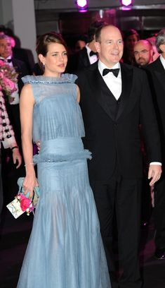 Monaco Rose Ball: as Monaco gets ready for annual Grace Kelly event HELLO! Online looks back at previous years, what Charlotte Casiraghi and Princess Charlene have worn and this year's ball theme Princess Caroline Of Monaco, Princess Charlene, Charlotte Casiraghi, Princesa Grace Kelly, Patricia Kelly, Princesa Carolina, Monaco Royal Family, Moda Chic, Blue Gown