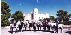 Policía montada  castillo de Bellver  Palma Mallorca Spain