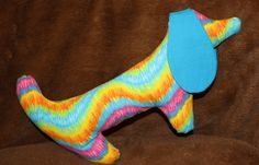 Hippie the Kayleighkins Stuffed Dog by fluffygirlboutique on Etsy, $14.99