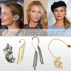 Celebs Love...  ear cuffs, earcuff, celebrity, style, earrings, oorbellen, jewelry. sieraden