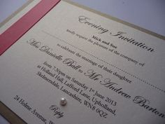 Dusky pink and gold styled wedding invitations