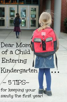 HONEST advice from a mom who has been there! Advice and tips on how to keep your sanity when your baby is about to start KINDERGARTEN!