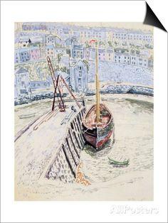The 'Sans Pareil' in Brixham Harbour, c.1931 Prints by Dora Carrington at AllPosters.com