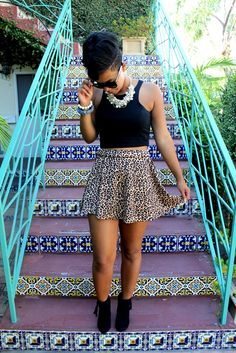 loving this leopard skirt!