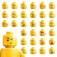 lego faces dipicting various workplace emotions Lego Faces, Emotion Faces, Isometric Drawing, Lego Bedroom, Lego Man, Vintage Lego, Feelings And Emotions, Lego Birthday, Abstract Images