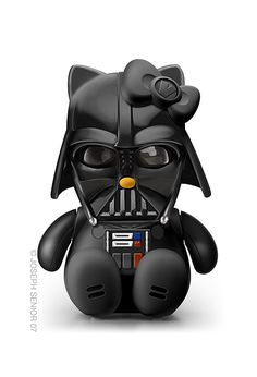 Hello Kitty como Darth Vader.