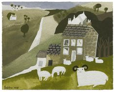 Mary Fedden | Sheep in a Landscape