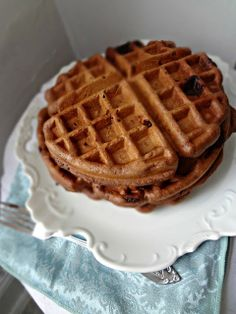 The Cooking Actress: Whole Wheat Double Chocolate Chip Waffles