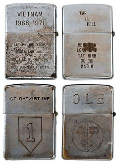 These Personalized Lighters Left By Soldiers In Vietnam Are Tragic.