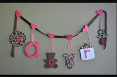 Cheetah Baby Shower Decorations Leopard Pink And Brown Itu0027s A Girl Banner  By ParkersPrints On Etsy