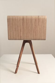 (bed)side table. Plywood + oak