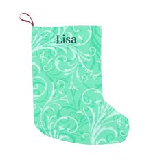 Personalized Mint Green Christmas Stocking Small Christmas Stocking http://www.zazzle.com/personalized_mint_green_christmas_stocking_manualwwstocking-256393360775607894?rf=238271513374472230  #christmas  #christmasstockings  #stockings