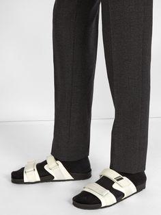 Double-strap sandals | Prada | MATCHESFASHION.COM US Double Strap Sandals, Men's Sandals, Birkenstock, Prada, Flip Flops, Boots, Fashion, Crotch Boots, Moda
