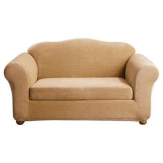 Loveseat Slipcover Sure Fit Gold