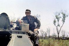 Soviet Lieutenant Colonel D. Gukov poses during an offensive on Mavinga, Angola. Photograph taken sometime during 1984.