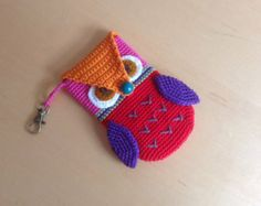 Owl mobile phone case crochet
