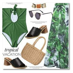 """Tropical Vacation"" by paculi ❤ liked on Polyvore featuring H&M and Piel Leather"