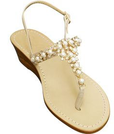 990af7952 Juliette Capri Jeweled Sandal. Capri Girl Sandals · Products · Giada Pearl  Wooden Wedge