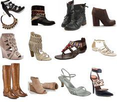 Обувь жестко скроенная и угловатая, но края мягкие. Обувь на низком ходу простой и минималистичной или в мужском стиле, а также причудливые модели. Вечерние босоножки должны быть очень открытыми.
