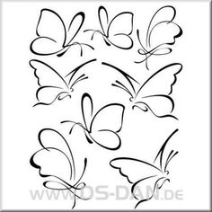 Folienaufkleber Set Schmetterlinge 03