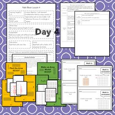 This #teaching unit provides 12 days of instruction Problem Solving Activities, Teaching Activities, Math Lesson Plans, Math Lessons, Daily 3 Math, 3rd Grade Math Worksheets, Math Blocks, Math Talk, Math Manipulatives